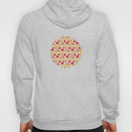 Bright Sunny Mod Poppy Flower Pattern Hoody