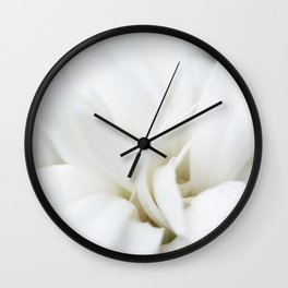 Snow White Flowers on a Dark Background #decor #society6 #buyart Wall Clock