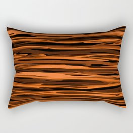 Harvest Orange Abstract Lines Rectangular Pillow