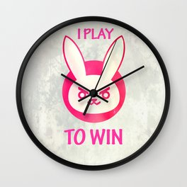 I play to win Wall Clock