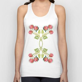 Embroidered Scandi Flowers Unisex Tank Top