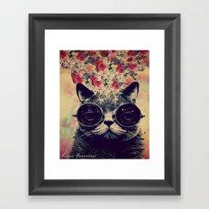 The lovecat! Framed Art Print