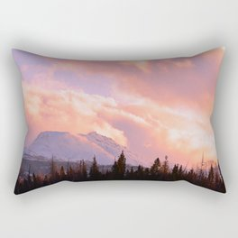 Rose Quartz Turbulence Rectangular Pillow