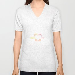 Animal Love: Sheep & Bunnies Unisex V-Neck