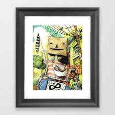 pseudo-hero Framed Art Print