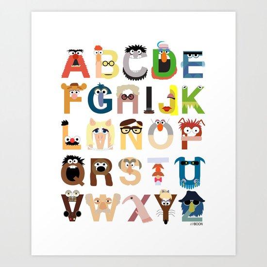 Muppet Alphabet Art Print