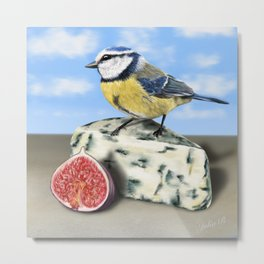 Great tit & Blue Cheese Metal Print