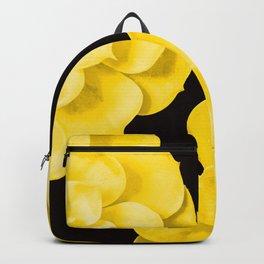 Large Yellow Succulent On Black Background #decor #society6 #buyart Backpack