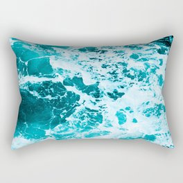 Deep Turquoise Sea - Nature Photography Rectangular Pillow