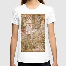 Vintage & Shabby Chic - Victorian ladies pattern T-shirt