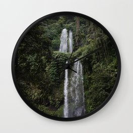 Lombok Waterfall Wall Clock