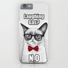 Grumpy Chemistry Cat Geek Science Meme Whimsical Animals in Glasses Slim Case iPhone 6