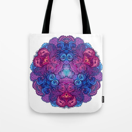 Purple & Blue Indian Mandala Tote Bag