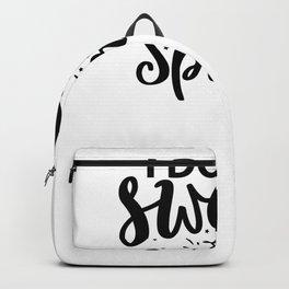 Gym Design I Don't Sweat I Sparkle Backpack