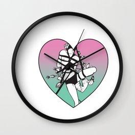 Shibari Heart Wall Clock