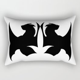 Dragon Silhouette Rectangular Pillow