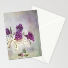 still life with lilac Stationery Cards