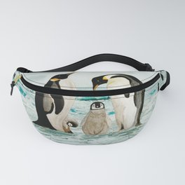 Emperor Penguin Family Fanny Pack