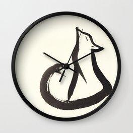 Sitting Fox Wall Clock