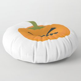 Evil Halloween pumpkin Floor Pillow