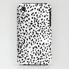 Nadia - Black and White, Animal Print, Dalmatian Spot, Spots, Dots, BW Slim Case iPhone (3g, 3gs)