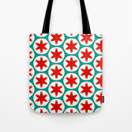 Retro Red Stars II Tote Bag