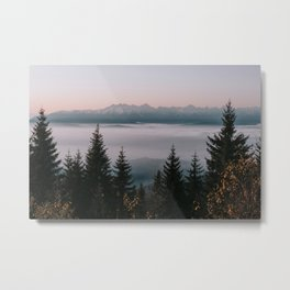 Faraway Mountains - Landscape and Nature Photography Metal Print