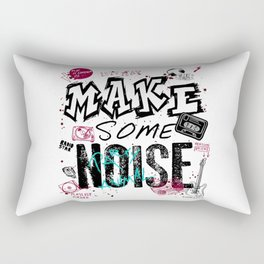 Make some Noise Rectangular Pillow