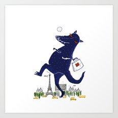 Monster Go Shopping Art Print