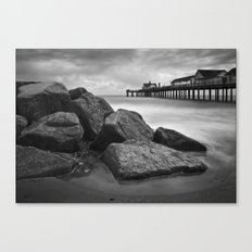 Southwold Pier and Rocks, Suffolk Canvas Print