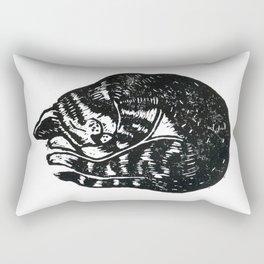 Sleeping Cat - Lino Rectangular Pillow