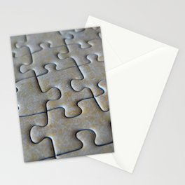 Puzzle Pieces in Its Place Stationery Cards