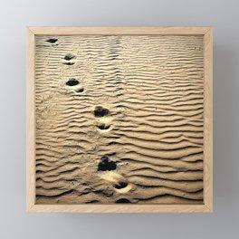 Pismo Beach Footprints Framed Mini Art Print