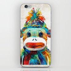 Sock Monkey Art - Your New Best Friend - By Sharon Cummings iPhone & iPod Skin
