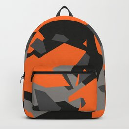 Black\Grey\Orange Geometric camo Backpack