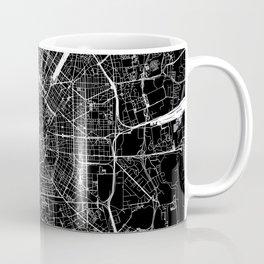 Milan Black Map Coffee Mug