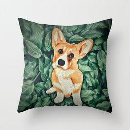 Mia the Corgi Throw Pillow