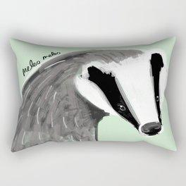 Adorable Badger ( Meles meles ) Rectangular Pillow