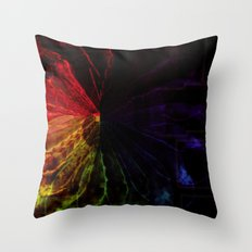Prism Flower Throw Pillow