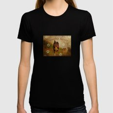 Friendship service Black SMALL Womens Fitted Tee