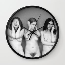 hear, see and shut up Wall Clock