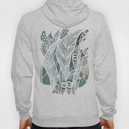 Feathery Design in Emerald Green Hoody