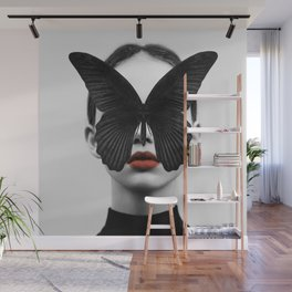 BLACK BUTTERFLY Wall Mural