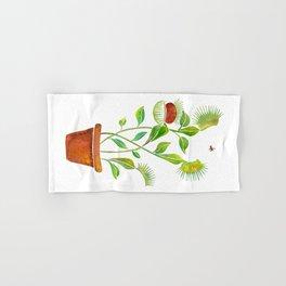 Venus Fly Trap Watercolor Hand & Bath Towel