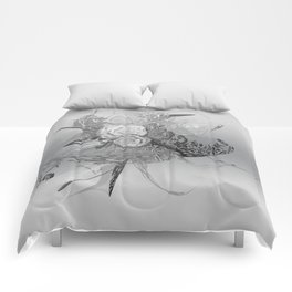 50 Shades of lace Silver Silver Comforters
