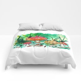 Toadstool Mushroom Fairy Land Comforters