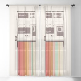 Instant Camera Rainbow Sheer Curtain