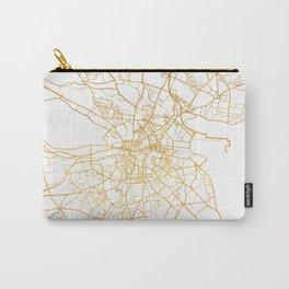 DUBLIN IRELAND CITY STREET MAP ART Carry-All Pouch