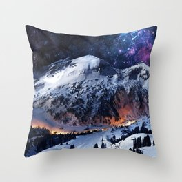 Mountain CALM IN space view Throw Pillow