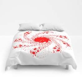 Red Pin Wheel Comforters